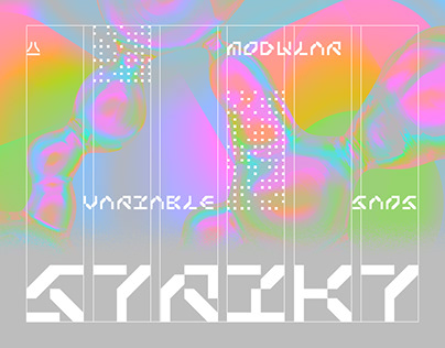 Strikt — animated variable typeface | free font
