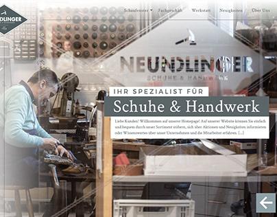 Neundlinger | Schuhe & Handwerk Website