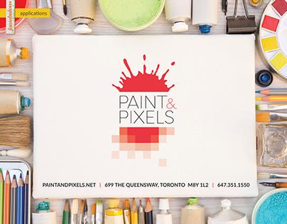 Paint&Pixels logo and branding