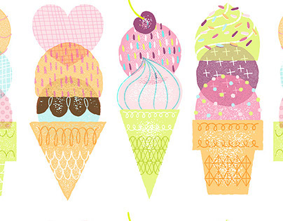 """Stamped"" Ice Cream Cones"