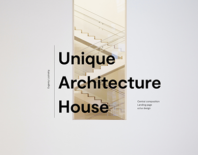 A new era in architecture Landing page