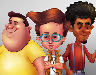 3 characters friends