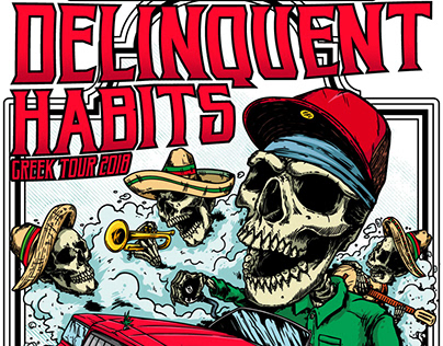 Delinquent Habits Gigposter - 2018 Greek Tour