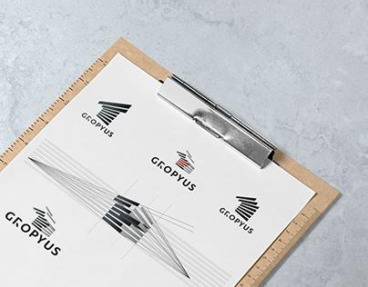 """Разработка логотипа для проектной компании """"GROPYUS"""""""