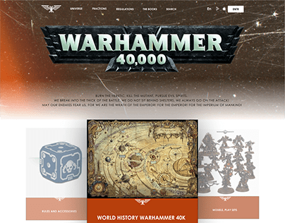 E-commerce desktop Warhammer 40k
