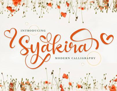 Free Syakira Calligraphy Font