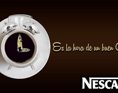 Fotomontaje Nescafé