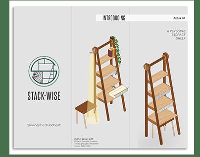 STACK-WISE | Personal Storage Shelf | Branding