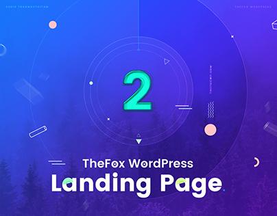 Thefox WordPress Landing Page version 2.0