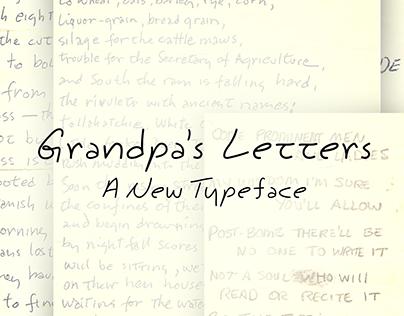 Grandpa's Letters Handwritten Font