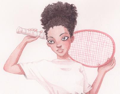 Watercolor portrait series
