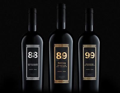 88, M89, V99 - Limited edition wine bottles