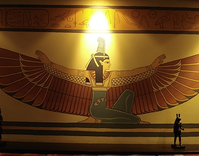 Egyptian themed bar (murals)
