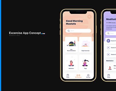 Exercises App concept