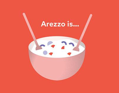 Arezzo is...