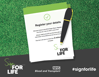 Sign for Life, Organ Donation