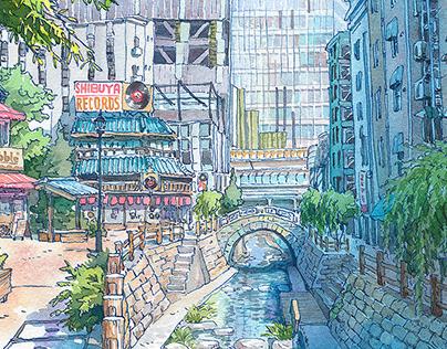 Shibuya river re-imagined