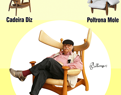 Brazilian Designers - Sérgio Rodrigues Poster