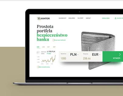 RKantor - online currency exchange website concept