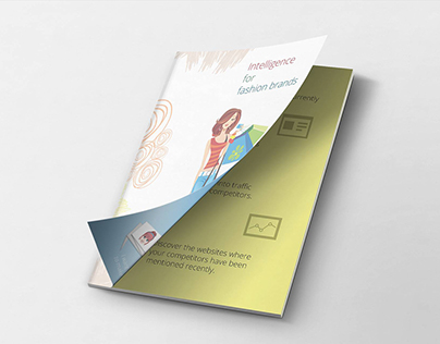 Brochure design with iconographic presentation