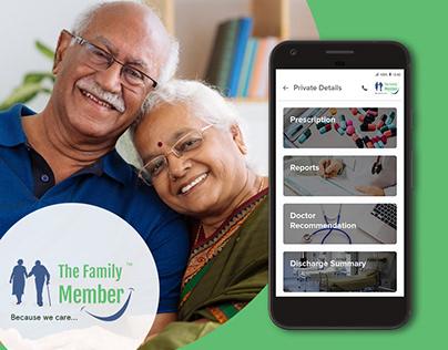 Elder Healthcare - TFM Mobile UI & Web Design