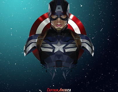 LOW POLY CAPTAIN AMERICA