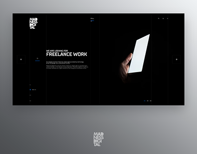 Madness / One Page Design / Freebie
