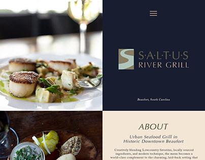 Saltus River Grill Website Design