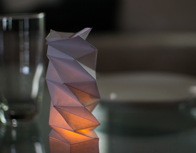 Geometric Folding Paper Light