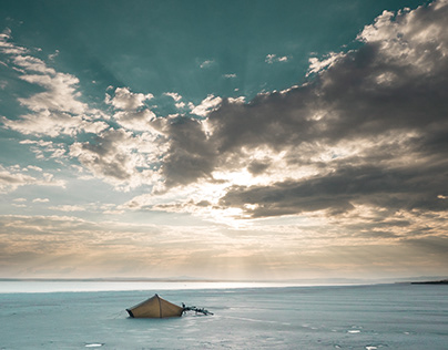Sleeping on a salt lake