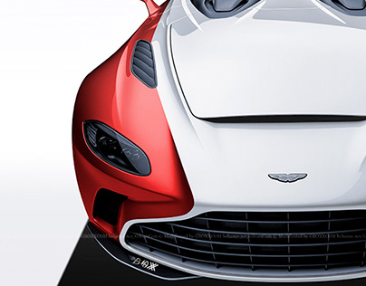 2020 Aston Martin V12 Speedster White & Red