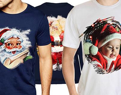 Christmas T-Shirt Design with Free Mockup