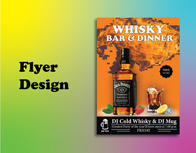Whisky/ Party Flyer