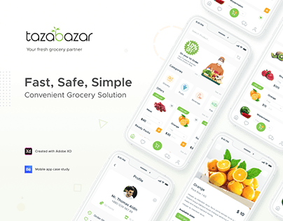 Grocery Mobile App UI UX Design Case Study