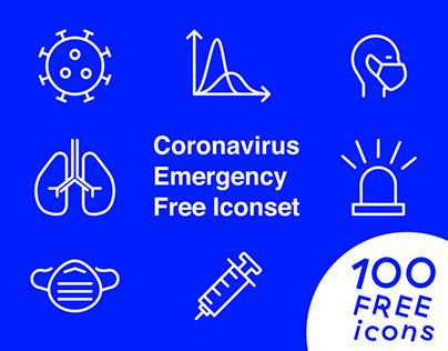 100 Coronavirus Free Icon Set