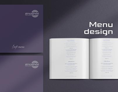 Atmosphere lounge & restaurant/ Menu design