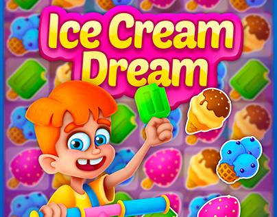 "Match-3 game ""Ice Cream Dream"""