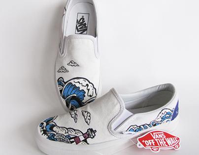 Ride The Wave - Custom Vans Shoes