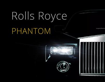 Rolls Royce Phantom - web design