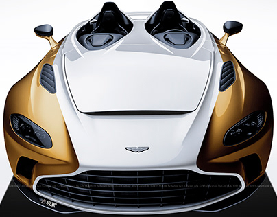 2020 Aston Martin V12 Speedster White & Gold