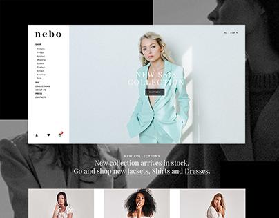 Fashion brand Nebo. Online store design.