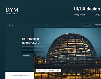 "UI/UX design for construction company ""DYM"""