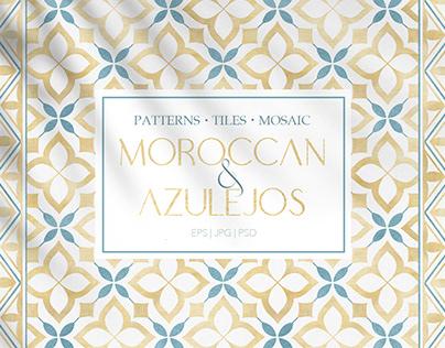 Islamic Moroccan & Azulejos patterns, tiles, mosaic