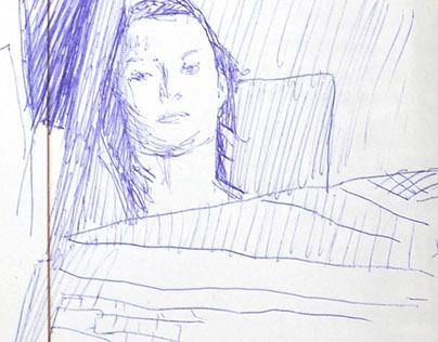 self capture - sketches
