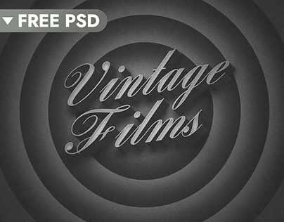 Old Movie 3D Title (FREE Download)