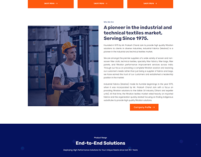 Website Development Project for IndusFab