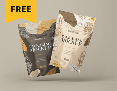 Free Stand Up Pouch Mockup Set