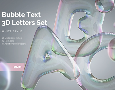 Bubble Text 3D Letters Set