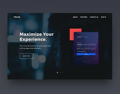 VReady | VR App Web Design