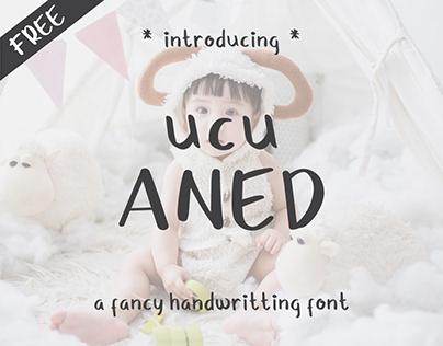 Ucu Aned - a Fancy Handwritting Free Font